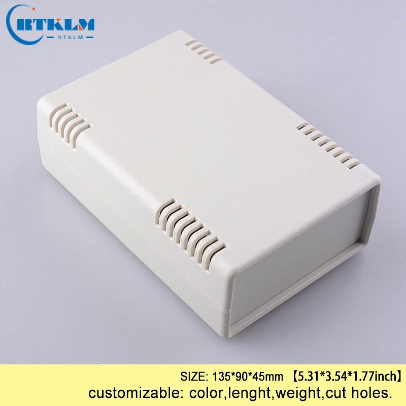 Abs Zwarte Dozen Voor Elektronische Projecten Diy Plastic Behuizing Plastic Behuizing Junction Box Kleine Custom Desktop Box 135*90*45 Mm