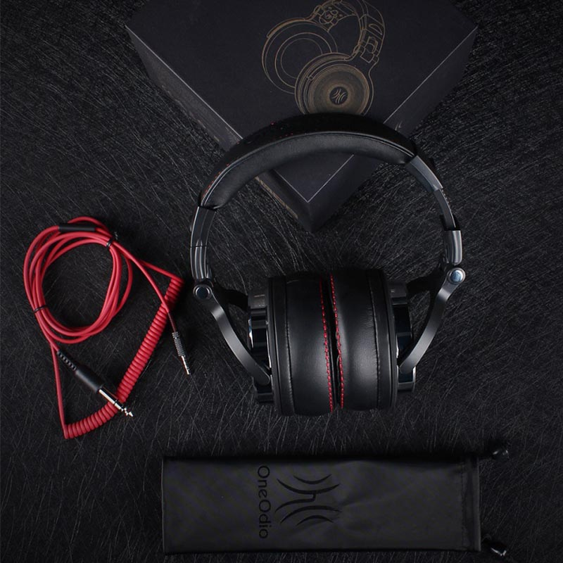 Oneodio Professional Studio DJ Headphones With Microphone Over Ear Wired HiFi Monitors Headset Foldable Gaming Earphone For PC oneodio dj headset earphone with microphone pc wired over ear hifi studio dj headphone professional stereo monitor urbanfun