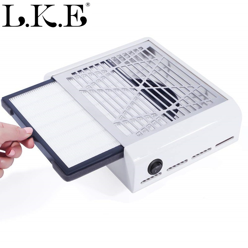 LKE 40W Manicure Vacuum Cleaner Strong Power Nail Dust Collector Nail Fan Tools Suction Professiona Suitable For Nail SalonLKE 40W Manicure Vacuum Cleaner Strong Power Nail Dust Collector Nail Fan Tools Suction Professiona Suitable For Nail Salon