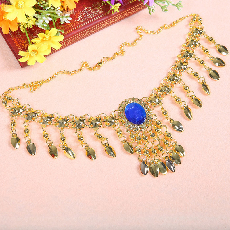 Belly Dance Belly Dance Gold Necklace Indian Dance Performances Jewelry Accessories