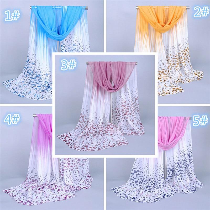 Fashion Women Long Leopard Shade Shawl   Scarf     Wrap   Chiffon   Scarves   17