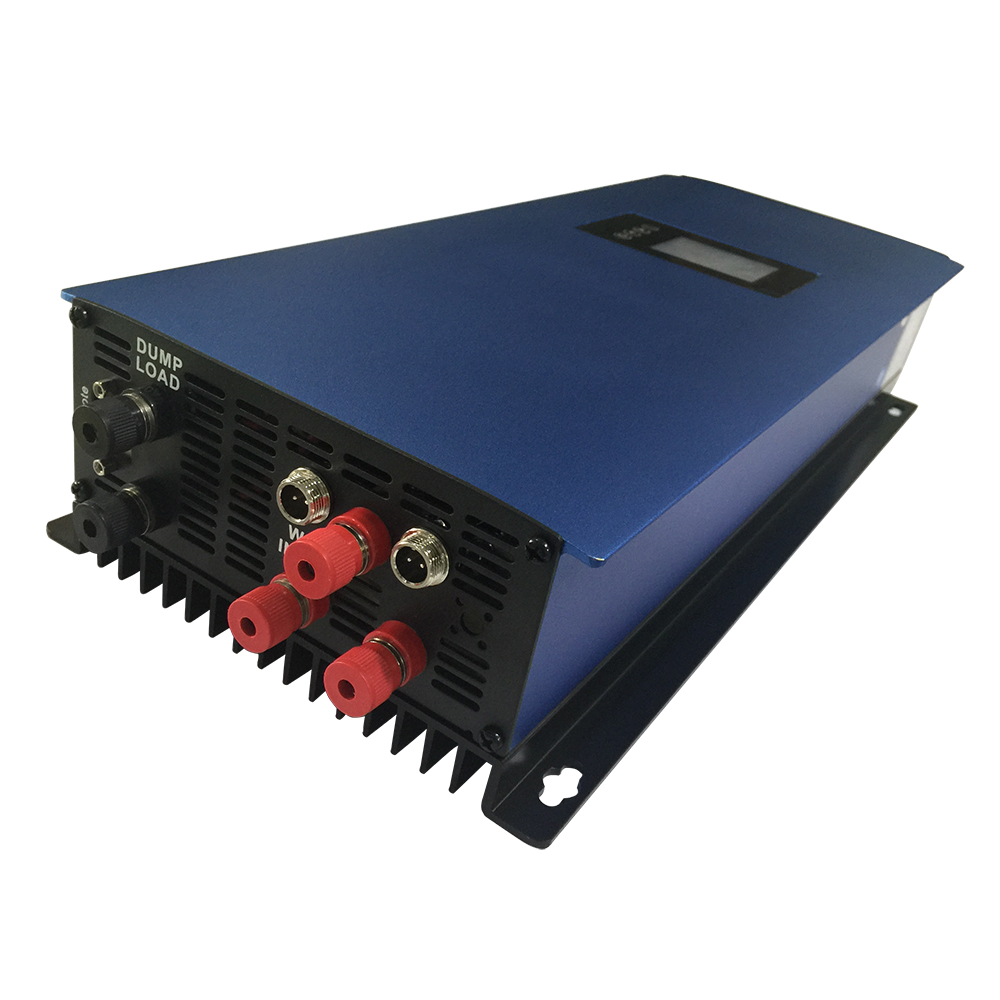 2000W Wind Grid Tie Inverter Pure Sine Wave DC 45-90V AC 90-260V Support For 3 Phase 48VAC Wind Turbine with Dump Load Resistor 400w wind generator new brand wind turbine come with wind controller 600w off grid pure sine wave inverter
