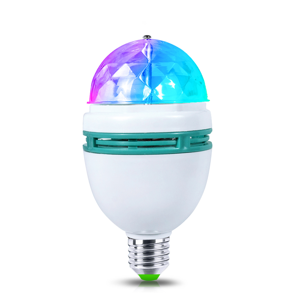 full color rgb led auto rotating stage light rgb led bulb 85 265v 110v 220v e27 disco dj party club bulb for holiday dance decor - Lampe Living Colors Philips