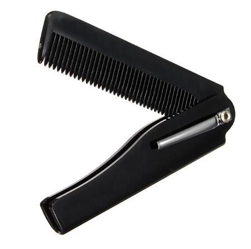 2018 High Quality 1 Pcs Mens Womens Beauty Handmade Folding Pocket Clip Hair Moustache Beard Comb Beard Shaping Styling Tool