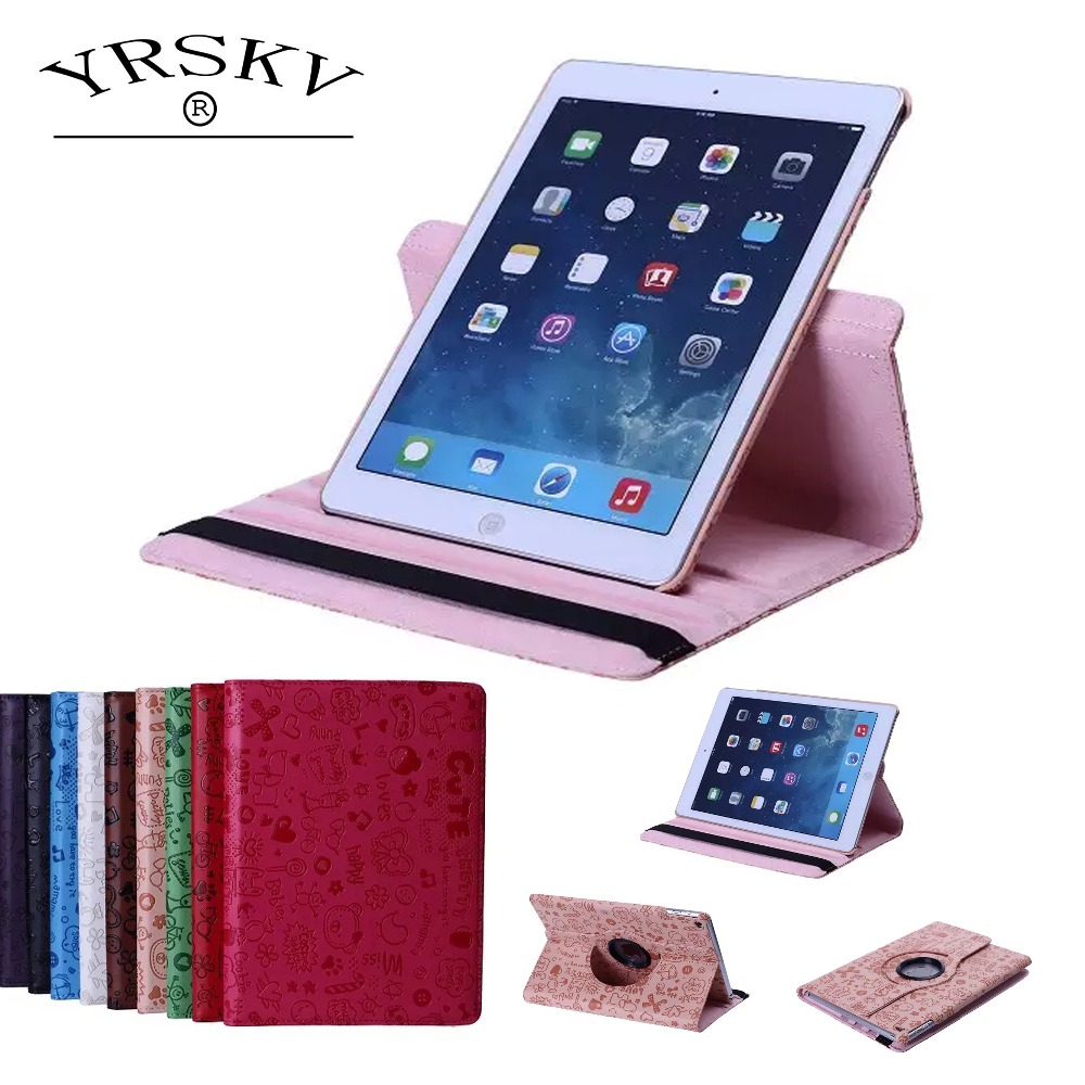 Case for iPad 2 iPad 3 iPad 4 YRSKV 360 Little Witch PU Leather Rotating Smart Stand Tablet Tablet Case for iPad 2/3/4 tablet case for ipad 4 for ipad 3 for ipad 2 for ipad 9 7 inch pu leather smart cover stand case shell