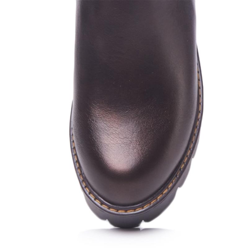 Mujeres Botas Gótico Vaquera De Combate Zapatos Tamaño Martin Casuales Tobillo La Plataforma Tacones Bloque Azul Mujer 2018 Sexy Del Plus Otoño marrón Azul qWEnUI6Hq
