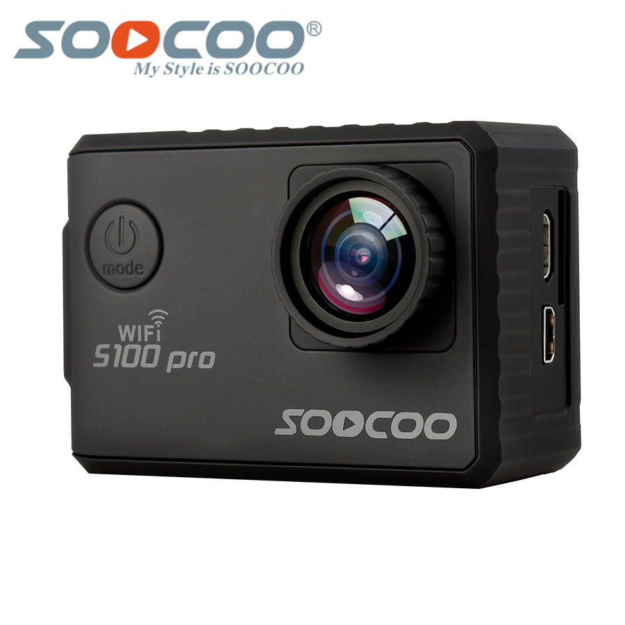 SOOCOO S100 Pro 4K 24fps 2K 30fps Wifi Touch Screen Camera, 1080P Full HD Gyro Waterproof Outdoor Mini Sport Camcorder GPS sport soocoo s100 pro 4k wifi action video camera 2 0 touch screen voice control remote gyro waterproof 30m 1080p full hd sport dv