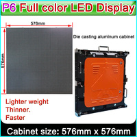 P6 Outdoor full color LED display, Die cast cabinet 576*576mm rental led display,