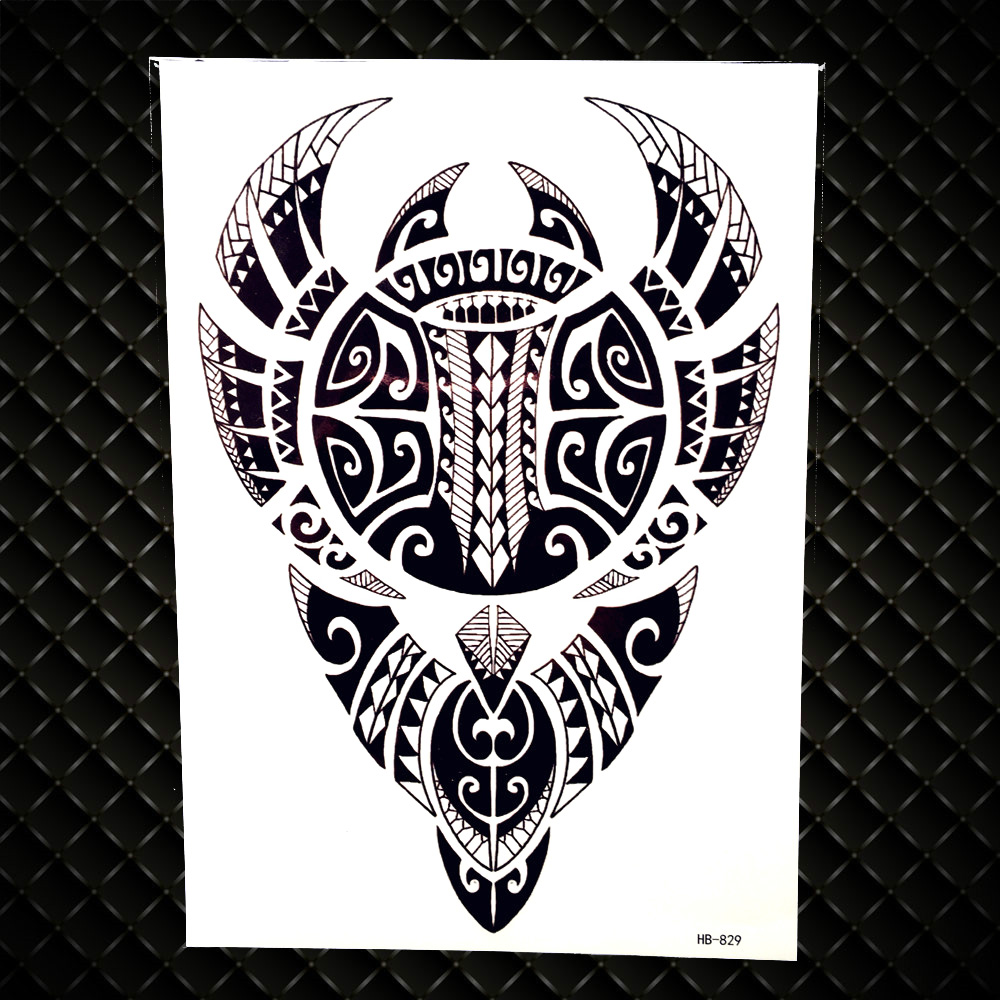 c85ef3efac1 US $0.88 5% OFF|Lion King Warrior Temporary Tattoo Stickers Men Robot Arm  Fake Waterproof Maori Tattoos Body Art Black Totem Tatoo Paper-in Temporary  ...