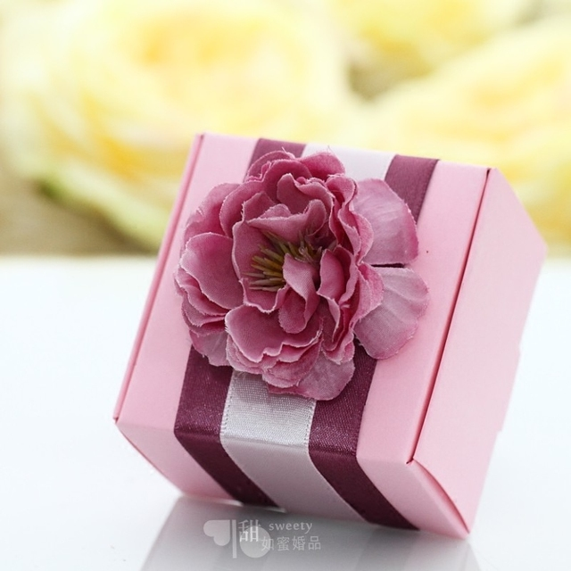 50PSC Wedding Gifts For Guests Party Decoration Custom Original Pink Sweet Box Diy Creative