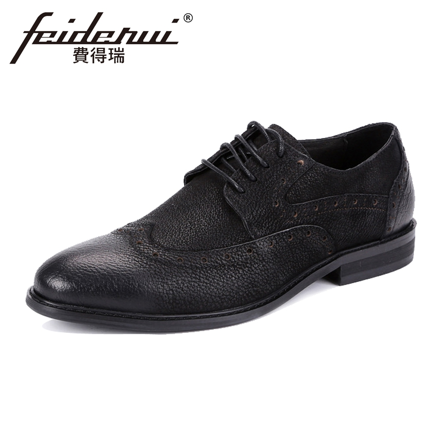 New Arrival Genuine Leather Mens Oxfords Round Toe Cow Suede Handmade Male Party Flats Formal Dress Brogue Shoes For Man ASD40New Arrival Genuine Leather Mens Oxfords Round Toe Cow Suede Handmade Male Party Flats Formal Dress Brogue Shoes For Man ASD40