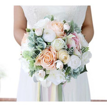 Wedding Bouquets Artificial Flower Bridesmaid Bridal Bouquet for BRIDE Marriage YT002