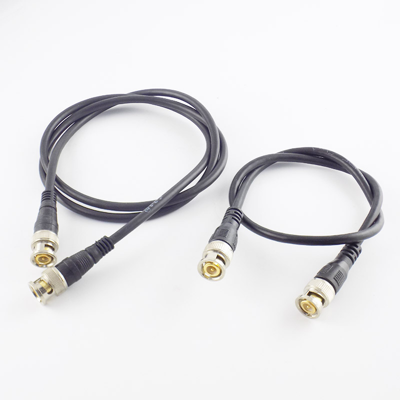 BNC Male To Male Adapter Cable For CCTV Camera BNC Connector Cable Camera BNC Accessories 1M