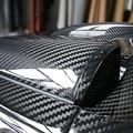 "76*60CM Glossy 4D 5D 6D Black Carbon Fiber DIY Car Wrap Bubble Free Air Release Sheet Roll Film Sticker Vinyl Decal 30""*24"""
