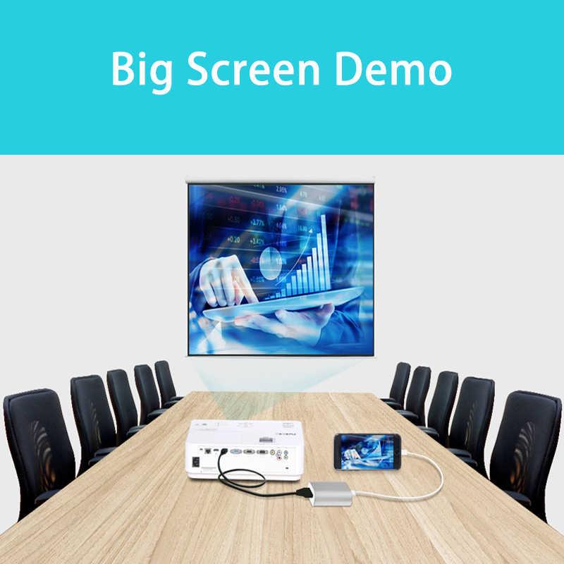 Концентратор для iPhone/Android телефон Универсальный телефон к HD HDMI видео кабель ipad планшет поворот VGA подключение ТВ проекционный инструмент con