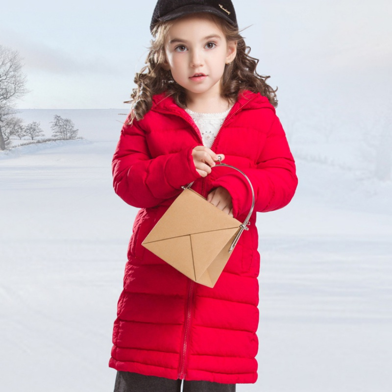 2017 Baby Girls Boys Kids Down Jacket 96% Cotton Light Thin Long Pocket Coat Autumn Winter Warm Children Clothes Removable Cap children winter coats jacket baby boys warm outerwear thickening outdoors kids snow proof coat parkas cotton padded clothes