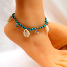 Fashion Handmade Natural Shell Anklets for Women Stone Beads Rope Chain Bohemian Beach Anklet Jewelry