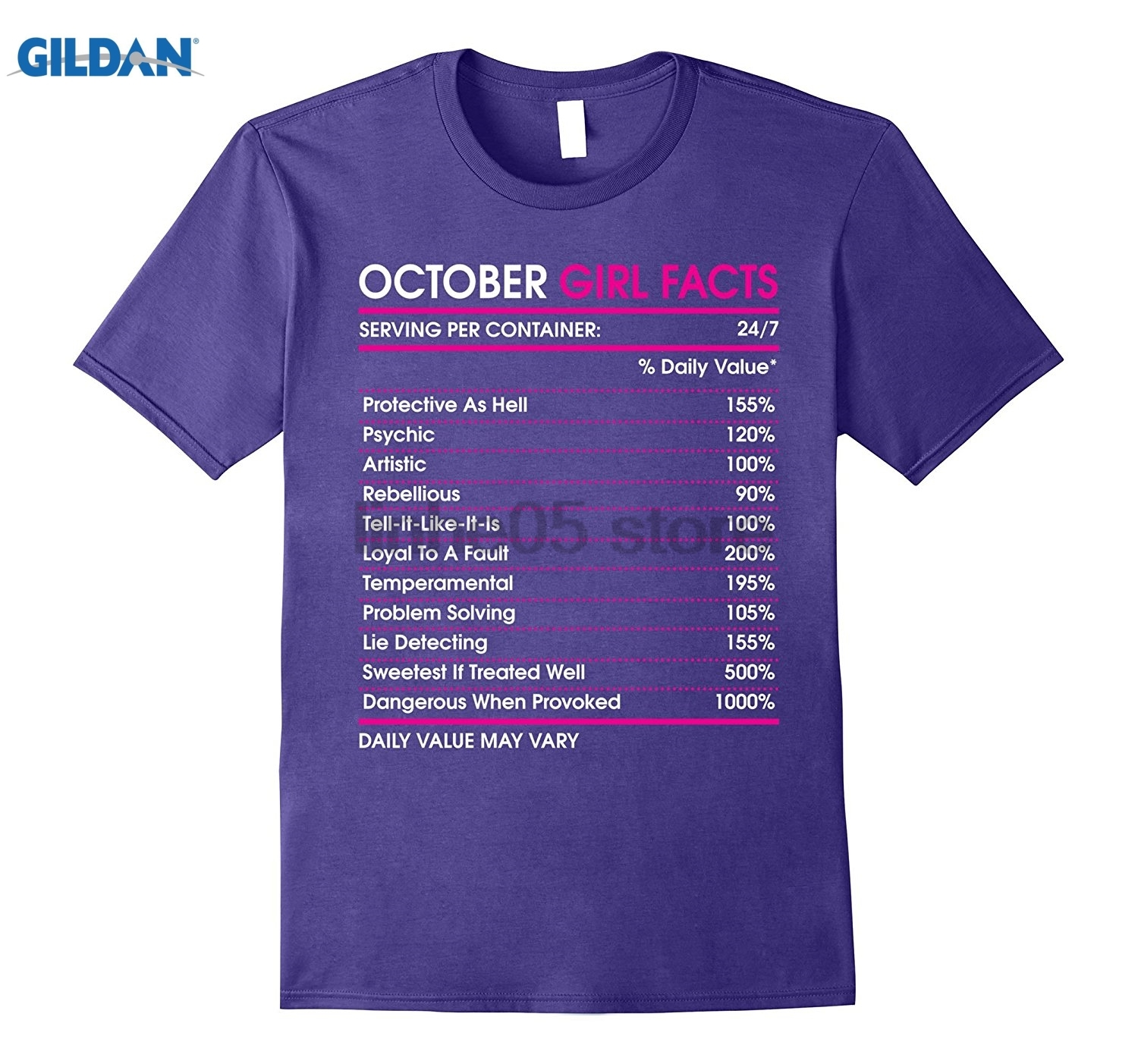 GILDAN October Girl Facts T-shirt Libra Zodiac Sign glasses Womens T-shirt ...