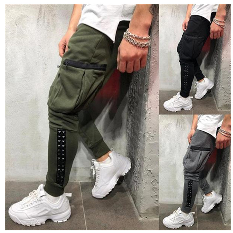 Leg-Trousers Sports-Pants Casual New Multi-Pocket Small Brand Men's