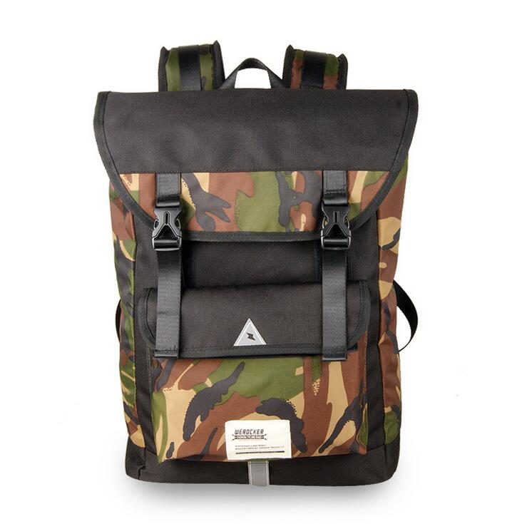 2017 free shipping printing canvas Camouflage teenager school backpack japan korea fashion cool style femal military