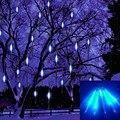 30 cm Natal Decorativo Seqüência de Luz chuva de Meteoros Chuva Led Lâmpada Luz Branca 100-240 V EU Plug Xmas decoração Frete Grátis