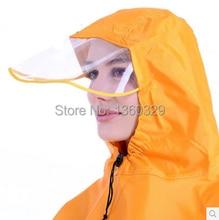 Fashion burberry men Womens Long Raincoats Yellow Single Motorcycle Poncho Women Plus Size Red Cloak Thickening