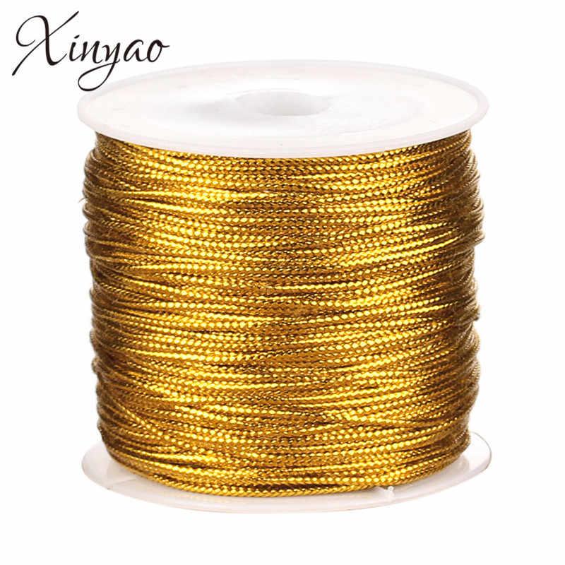 1 рулон/лот диам 0,15/1,2 мм неэластичный нейлоновый китайские узлы шнур макраме нить для вышивки для вязания шитья Diy F5193