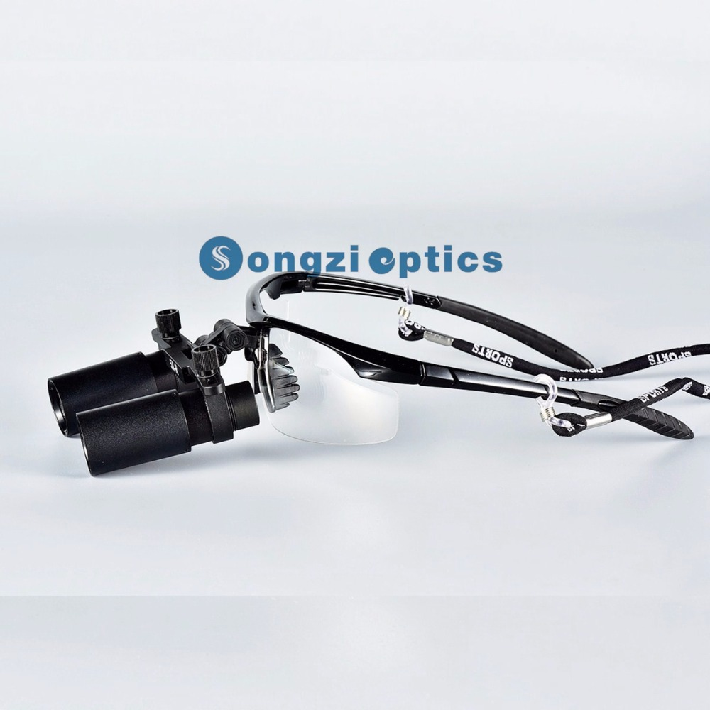 High quality 5X 6X Optional Black Sport Frame Binocular Medical Surgical Loupes for Surgery