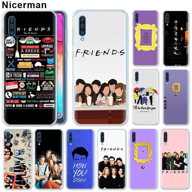 Friends TV Door Silicone Case For Samsung Galaxy A71 A51 A90 5G A50 A70 A40 A20e A10 A30 A80 A6 A8 Plus A7 A9 Silicone Case