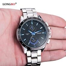 2019 LONGBO Watch Men Luxury Brand Full Stainless Steel Quartz Mens Men's Military Sporst Watch relogio masculino reloj hombre longbo relogio 2015 8810b
