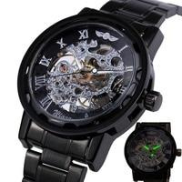 Top Fashion Mechanical Watches For Men S WINNER Brand Luminous Hands Male Hand Winding Wrist Watches