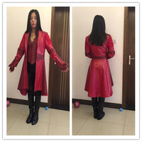 2016 Hot Avengers Age of Ultron Movie Scarlet Witch Cosplay Costume Women's Full Set Hallowmas Customized