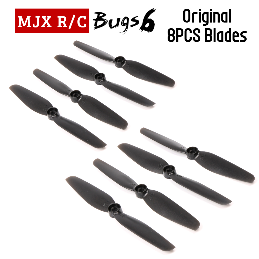 MJX Bugs 6 RC Drone Blades For MJX B6 Rc Quadcopter Propellers Spare Parts 8pcs/lot mjx bugs 3 rc quadcopter rtf black