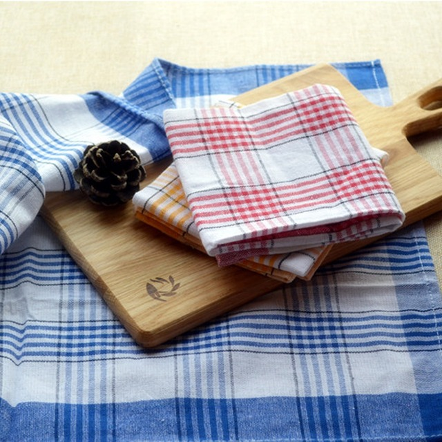 3pcs pack design retro plaid checked fashion cotton kitchen towels dish cloth table mats placemats tea - Kitchen Towels New Design