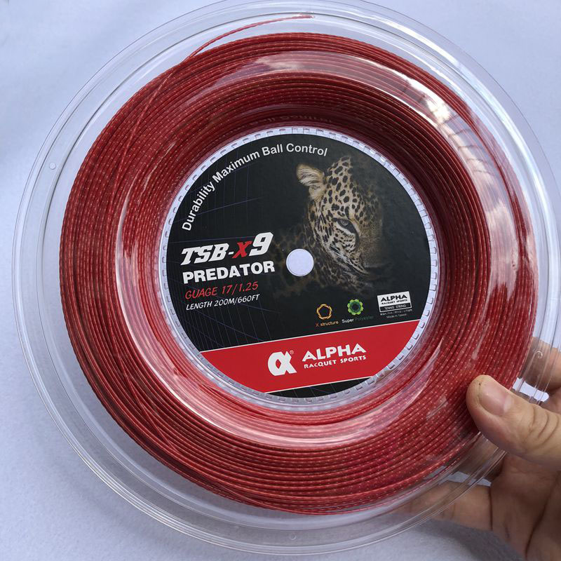 1 Reel ALPHA 1.25mm Tennis Racket String Polyester Bamboo Grain Tennis Training Power Spin String 200m