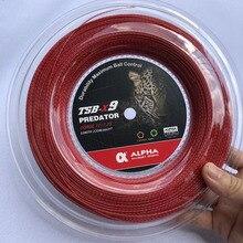 1 Reel ALPHA 1.25mm Tennis Racket String Polyester Bamboo grain Tennis Training Power spin String 200m
