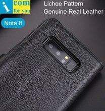 Case כיסוי Flip עור תבנית Lichee לסמסונג גלקסי הערה 8 TPU פנימי ארנק יוקרה Deluxe Note8
