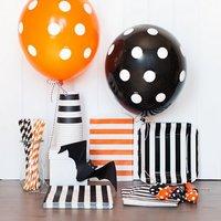 [PGP] Halloween Party Vaisselle Kit, Polka dot ballons Papier Rayures tasses Pailles Serviettes Sacs Plaques, pour les Enfants De Décoration Ensemble