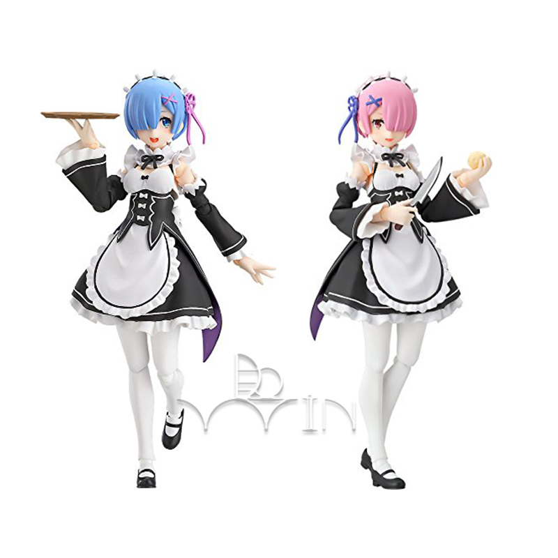 13cm Anime Figure Re:Life in a different world from zero Figma 347 RAM PVC Action Figure Collectible Model Kids Toys gift re life in a different world from zero model decoration 20cm rem and lahm swimsuit action figures