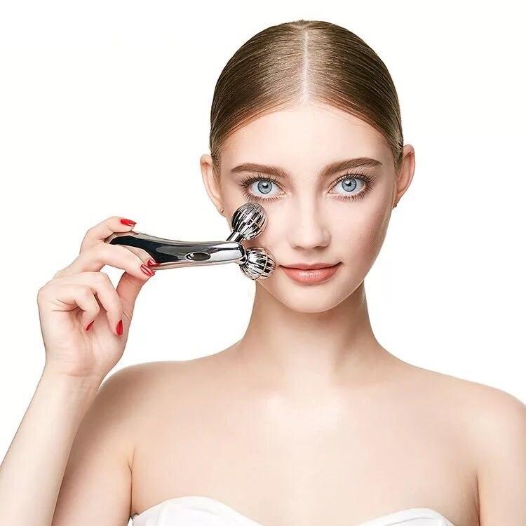 Japan Beauty Instrument Solar Ball Facial Massager Face Lift Tools Body Shaping Massage Roller Tighten Firming Eye Face Skin