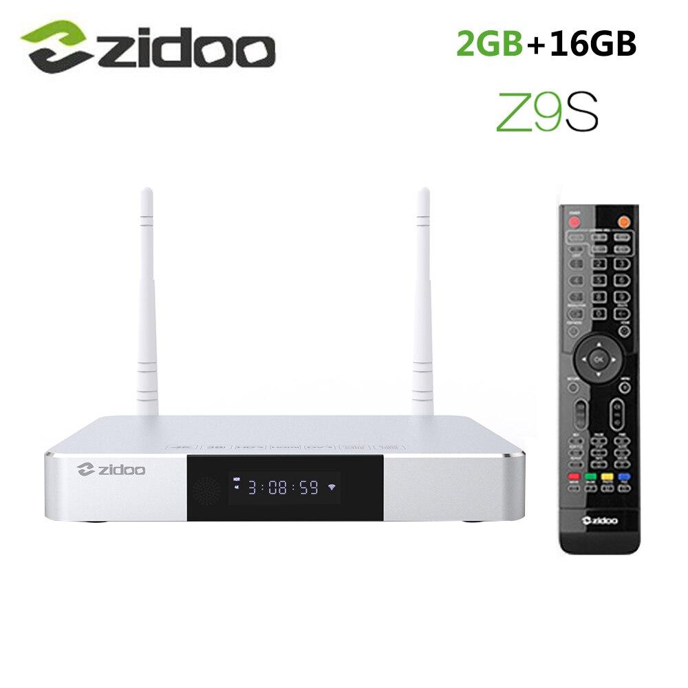Zidoo Z9S Inteligente Android 7.1 Caixa De TV 1000M LAN 4K HDR Conjunto Top Box Realtek RTD1296DD 2GB RAM GB ROM SATA 16 3.0 Media Player vs X9S