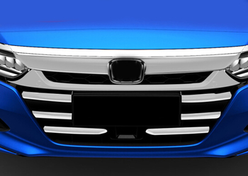 Pour Honda Accord 2018 Accessoires Grille De Course Avant Grille Couverture Garniture Décoration Extérieure Chrome Style 7 Pièces
