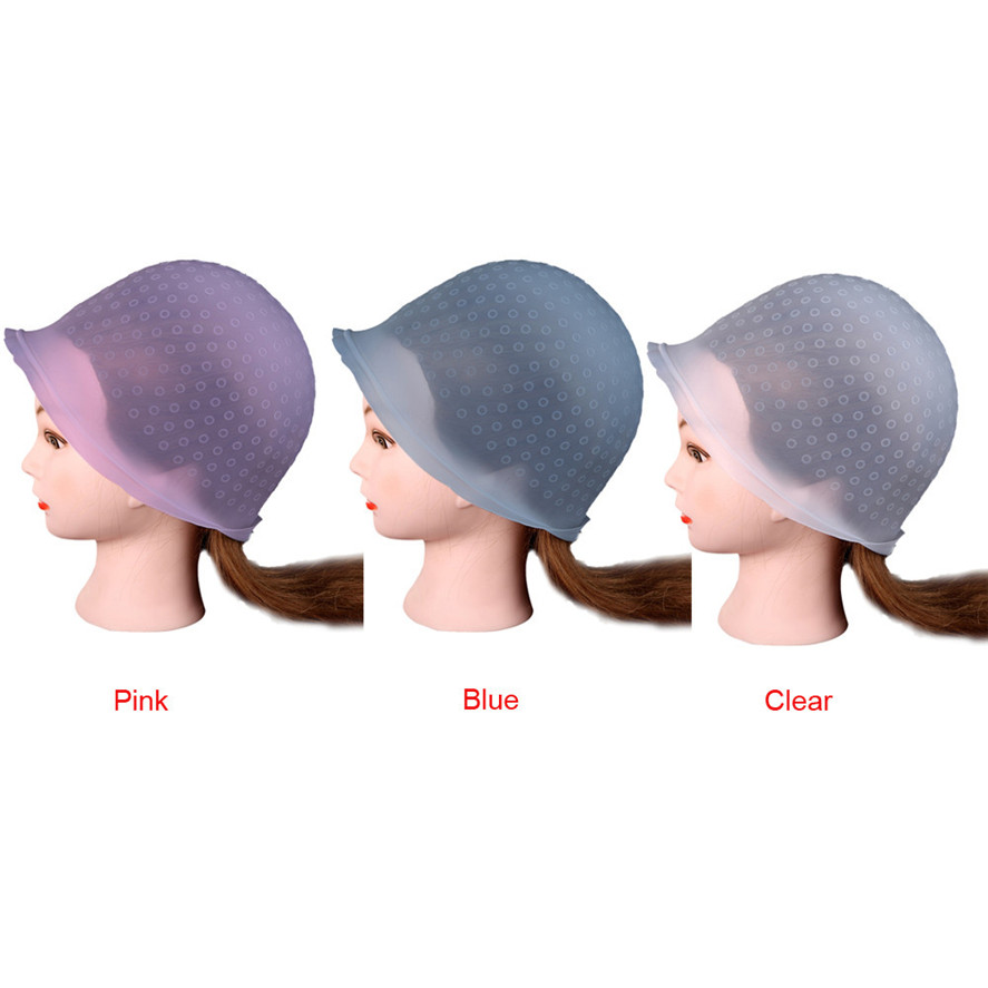 New Brand 1PC Professional Salon Reusable Hair Colouring Highlighting Dye Cap Hat Hook Frosting Tipping Hair Color Tool Clear