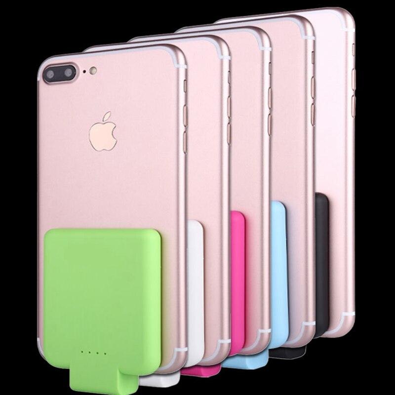 imágenes para Portátil mini-clip de la Batería de Litio Recargable de 2200 mah para el teléfono de Apple Carga Rápida Cargador de la Cubierta con cuatro colores
