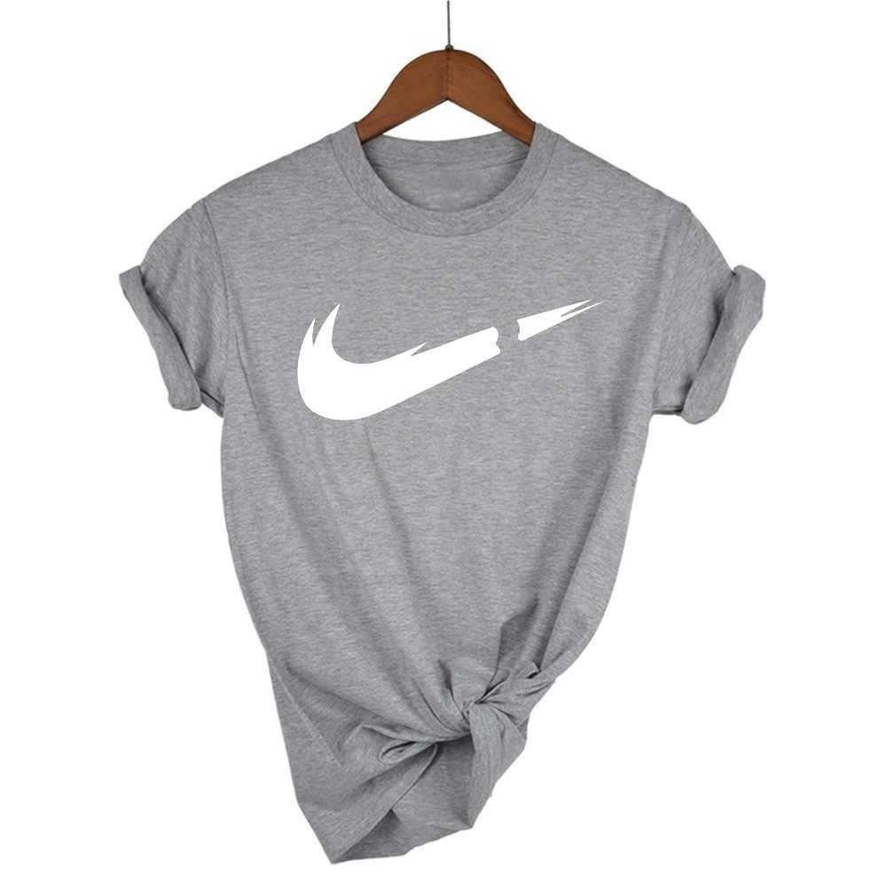 Хлопковые повседневные женские футболки с принтом логотипа, топ-модные шорты с рукавами, Футболка мужская/женская футболка 2019