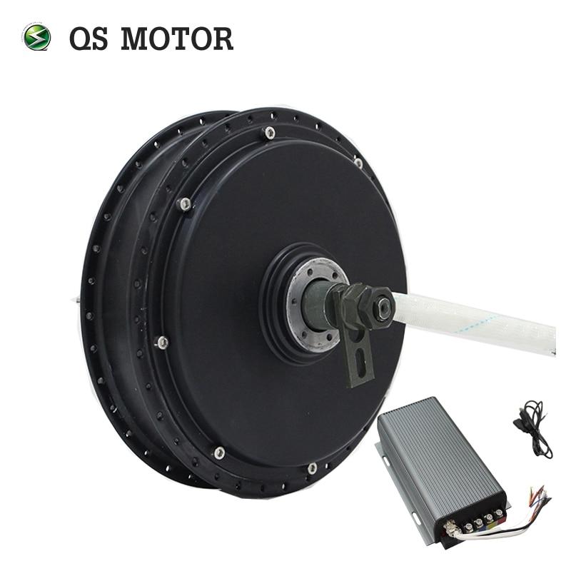 100KPH QS Motor Bicycle Spoke Hub Motor 3000W 205 50H V3 Type With SVMC72150 Controller
