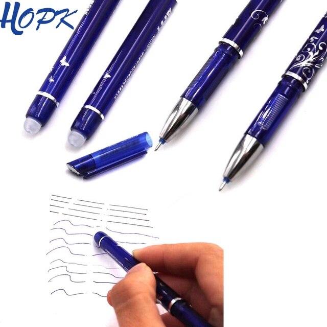 1 piezas pluma borrable 0,5mm azul/negro bolígrafo de tinta Oficina suministros de papelería de la escuela herramienta Examen de repuesto unisex