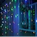 Рождественские огни открытый украшения 5 метр спад 0.4-0.6 м под занавес сосулька огни строки новый год свадьба гирлянда света