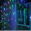 Luzes de natal ao ar livre decoração 5 metros de inclinação 0.4-0.6 m levou cortina icicle luzes da corda festa de casamento ano novo guirlanda de luz