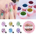 BORN PRETTY 1 Box Flower Fairy Gel 5G Floral Soak Off UV Gel Pretty Manicure Nail Art UV Gel 6 Colors